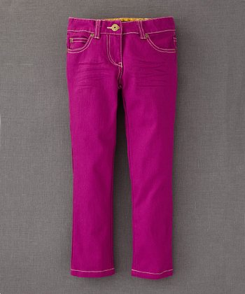 Purple Twill Slim-Fit Jeans - Toddler & Girls