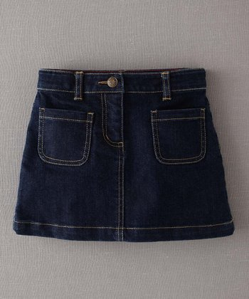Dark Denim Patch Pocket Skirt - Infant, Toddler & Girls