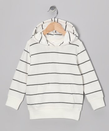 White & Black Stripe Hoodie - Infant, Toddler & Boys