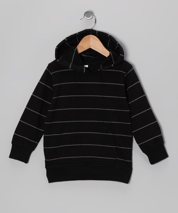 Black & Coffee Stripe Hoodie - Infant, Toddler & Boys