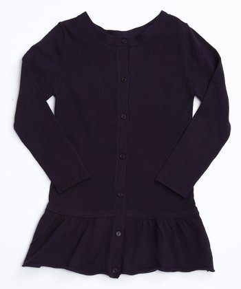 Nightshade Purple Frill Bottom Cardigan