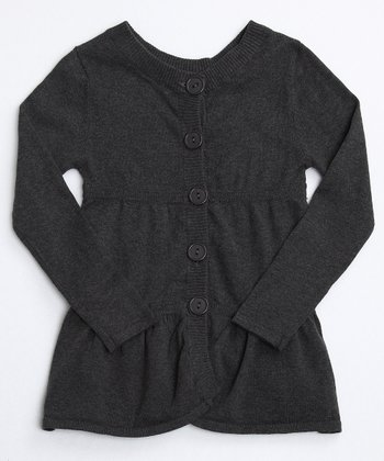 Charcoal Layered Tunic Cardigan