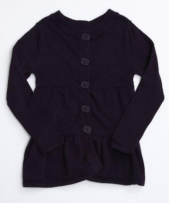 Nightshade Purple Layered Tunic Cardigan