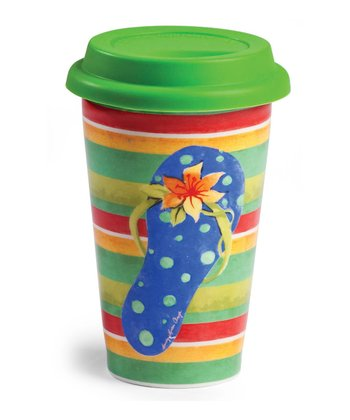 Sandy Days Double Wall Travel Mug