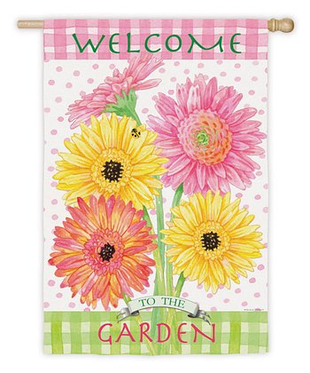 'Welcome' Blossom Garden Flag