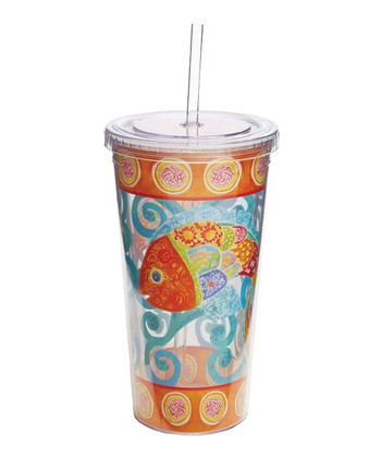 Funky Fish 20-Oz. Insulated Tumbler