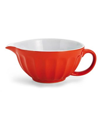 Orange Ceramic Pouring Bowl