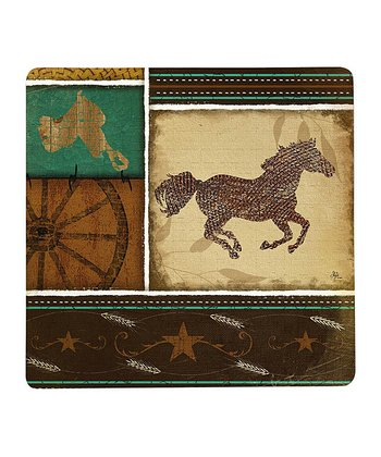 Cowboy Up! Square Cutting Board