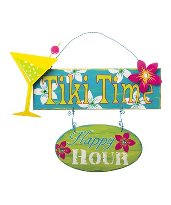 'Tiki Time' Wall Sign