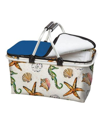 Coastal Brush Insulated Picnic Basket