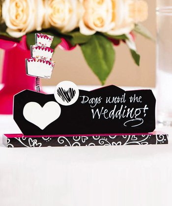 'Days Until the Wedding' Table Sign