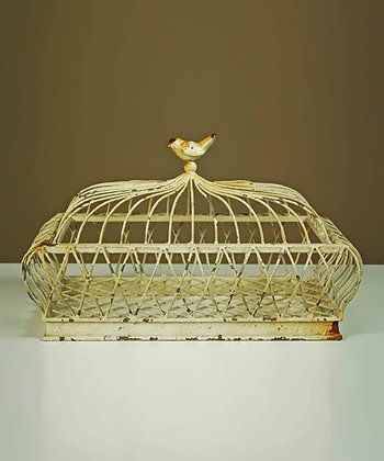 Antique Yellow Birdcage Basket