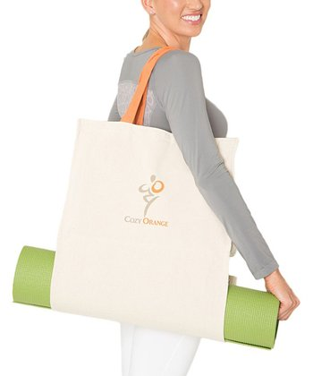 Natural White Cozy Yoga Tote