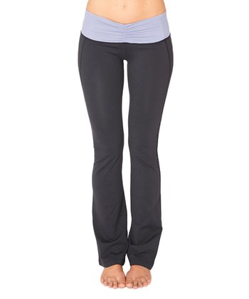 Hyacinth Purple & Raven Black Pisces Yoga Pants