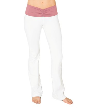 Rosewood & Optic White Pisces Yoga Pants