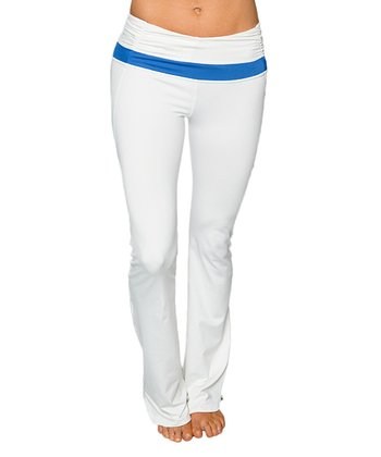Optic White & Tranquil Blue Gemini Yoga Pants