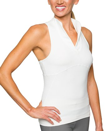Optic White Virgo Racerback Tank