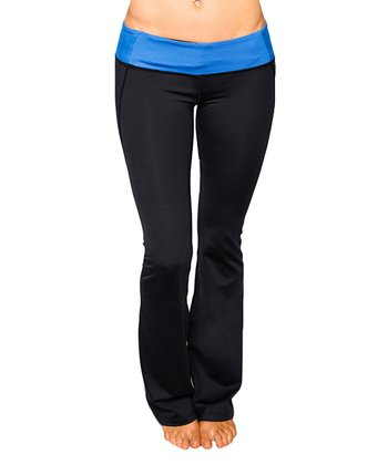 Tranquil Blue & Raven Black Virgo Yoga Pants