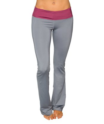 Frost Gray & Rosewood Virgo Yoga Pants