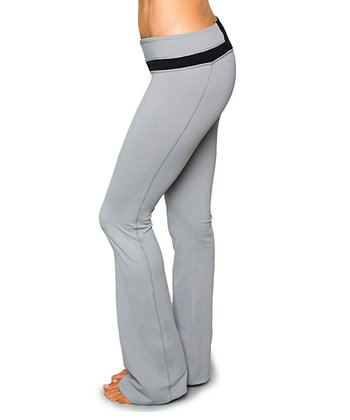 Frost Gray & Raven Black Libra Yoga Pants