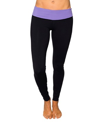 Dusky Violet & Raven Black Leo Leggings