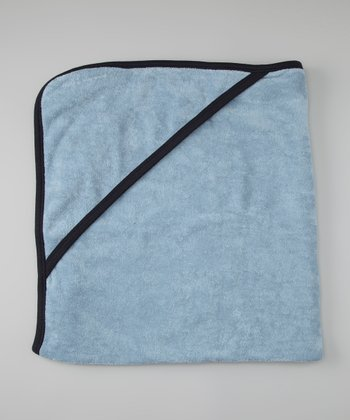 Ice Blue Organic Hooded Towel