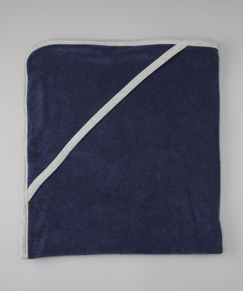Navy Organic Hooded Towel