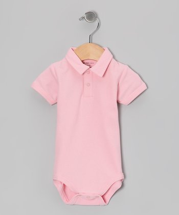 Bubblegum Organic Polo Bodysuit