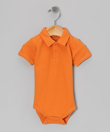 Carrot Organic Polo Bodysuit - Infant