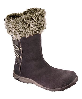 Chocolate Luxy Big Fur Boot