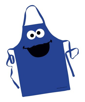 Blue Cookie Monster Big Face Apron