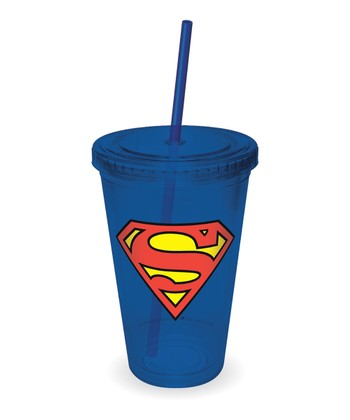 Blue Superman Logo Tumbler