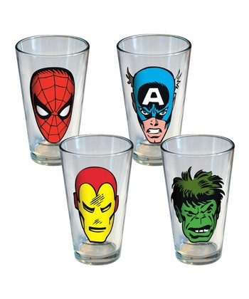 Marvel Retro Comic Faces Pint Glass Set