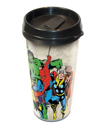 Heroes Plastic Travel Mug