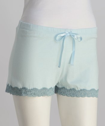 Riviera Blue Lace-Trim Boxers