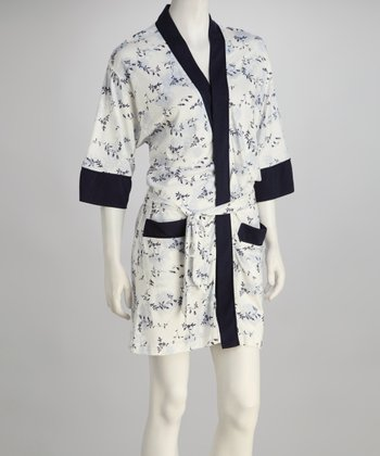 Navy & White Robe