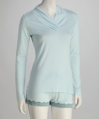 Riviera Blue Long-Sleeve Top
