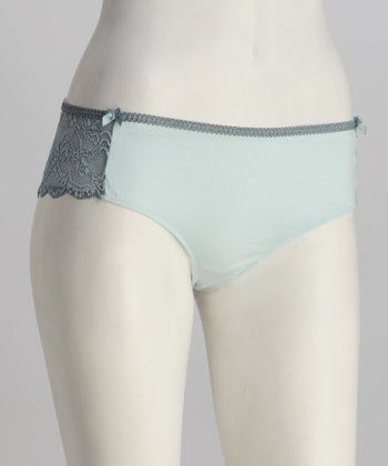Riviera Blue Lace Thong