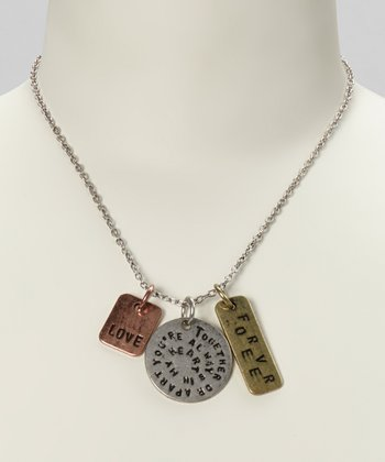Silver & Gold 'Together or Apart, You're Always...' Necklace