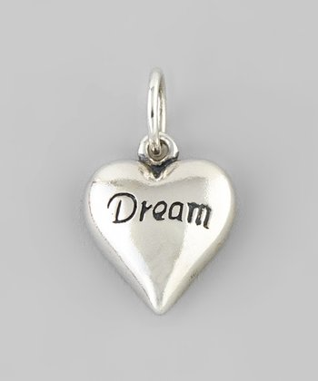 Silver 'Dream' Heart Charm