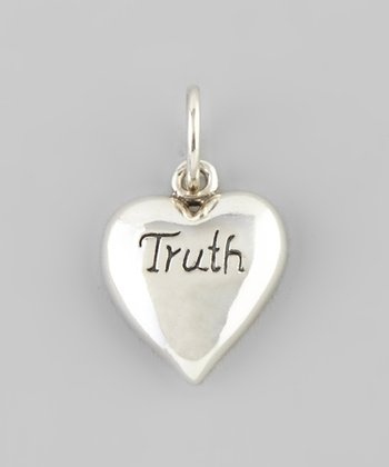 Silver 'Truth' Heart Charm