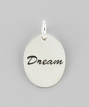 Silver 'Dream' Disc Charm
