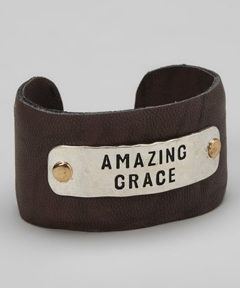 Silver & Brown 'Amazing Grace' Cuff