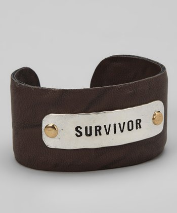 Silver & Brown 'Survivor' Cuff