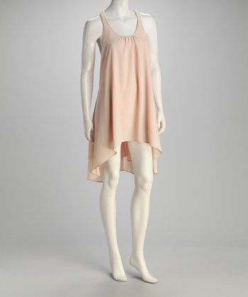 Blush Beaded Yoke Dress