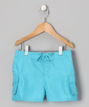 Blue Carla Boardshorts - Girls