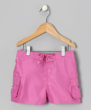 Pink Carla Boardshorts - Girls