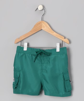 Lagoon Green Carla Boardshorts - Girls