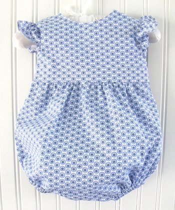 Blue Floral Bubble Bodysuit - Infant & Toddler