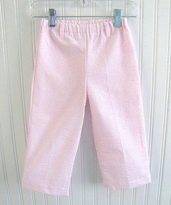 Pink Seersucker Pants - Infant, Toddler & Girls